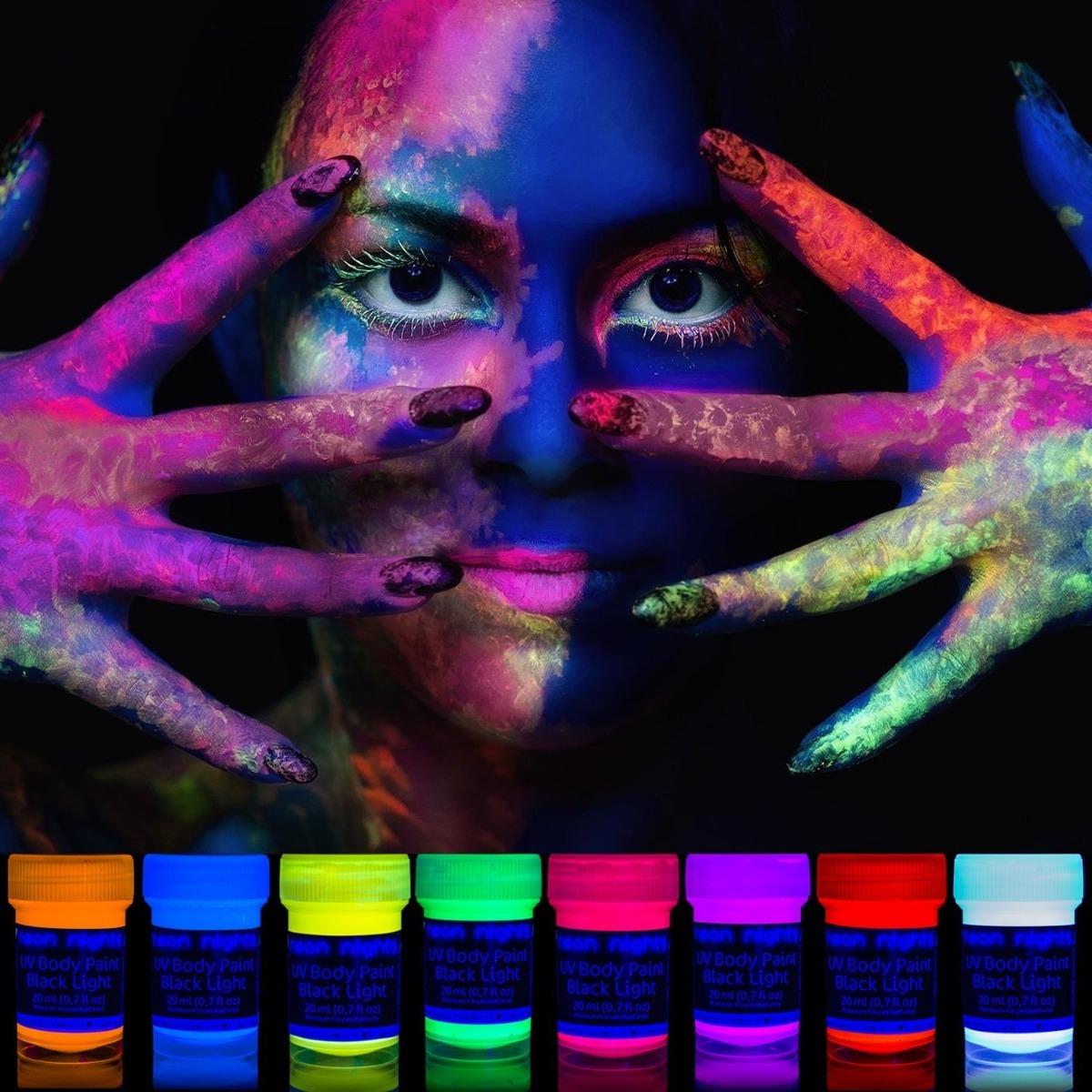 Tatuajes neon fluorescente
