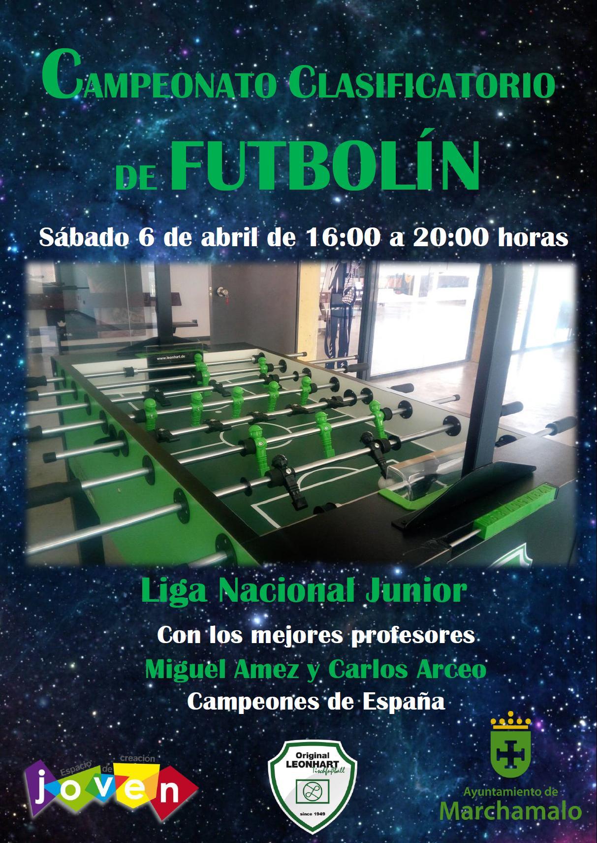 Cartel Campeonato Clasificatorio Futbolín.